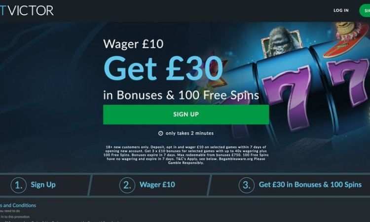 Get £30 + 100 Spins from Betvictor