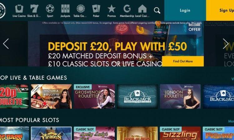 Grosvenor Casino £50 Bonus